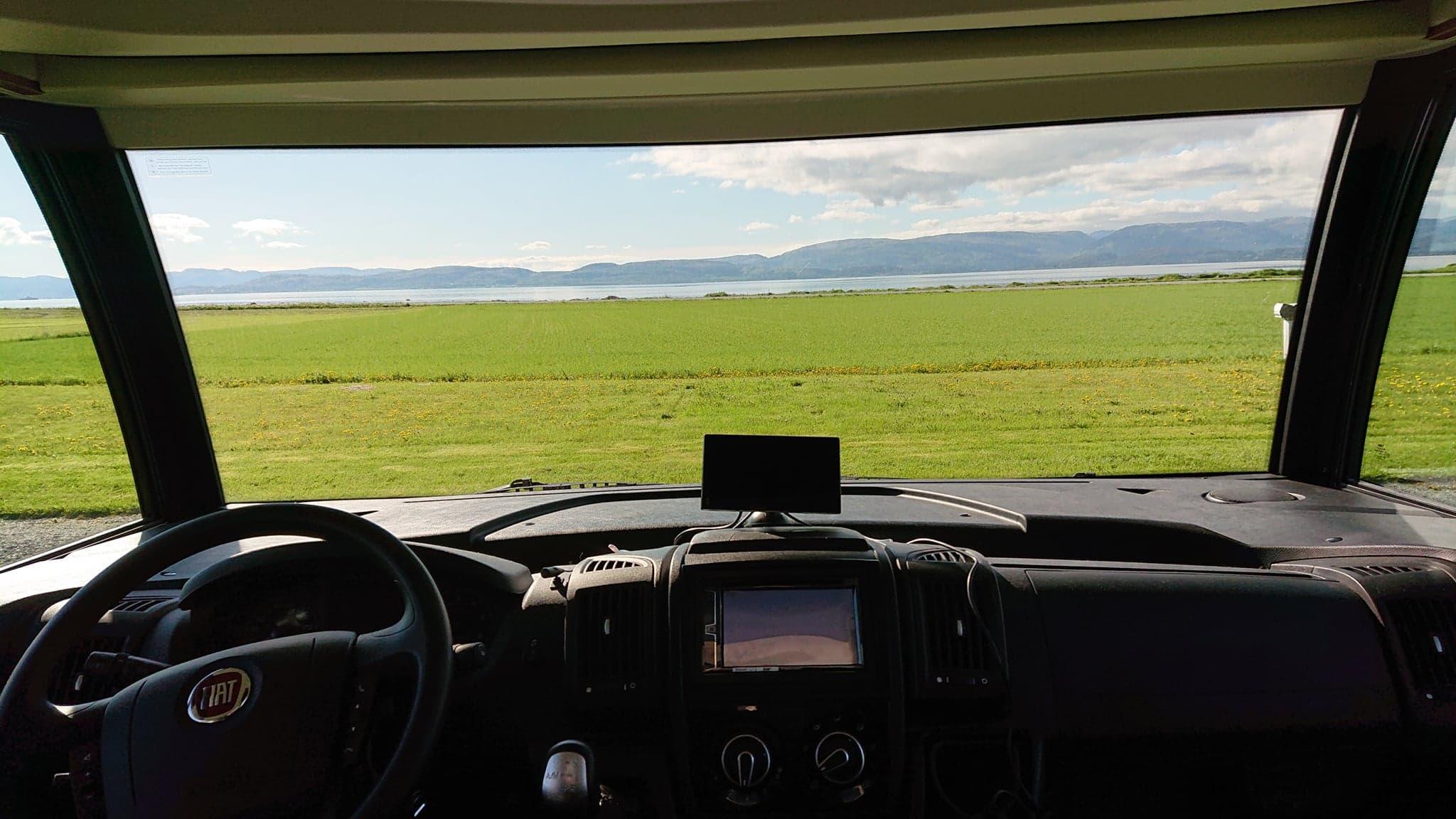 Utsikt fra bobilen / view from autocamper
